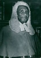 Portrait of Sierra Leone politician: Sir Emile Fashole Luke, 1972.