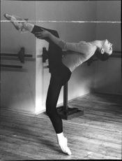 Dutch jazz dancer Astrid Strüwer, one of the performers at the ABC theater jazz ballets