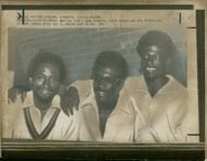 Clive Lloyd with team.
