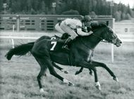 Eger with Derek Power in the saddle gallops against profit in the SKS Summer Cup