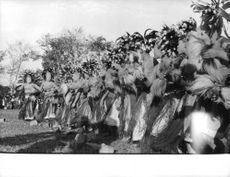 Women performing their traditional dance during an event.