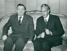 Soviet Foreign Minister Andrej Gromyko in conjunction with Italy's Foreign Minister Aldo Moro