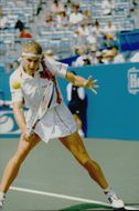 Steffi Graph during the winning match against Amanda Coetzer in the US Open