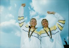 OS 1992 in Barcelona. The canoe: Kalle Sundqvist and Gunnar Olsson came second in K2 1000 m