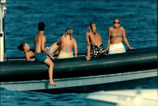 Crown Princess Victoria on a boat trip with friends at the French Riviera