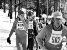 A number of persistent athletes compete during the marathon.