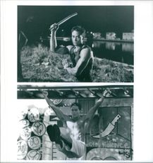 1993 A two photo scenes of  an American actor and martial artist Mark Alan Dacascos from the film Only the Strong.