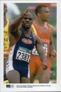 Dennis Mitchell in the 100m attempt at the Atlanta Olympic Games in 1996