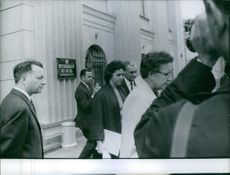 Francis Gary Powers being interviewed by press, 1960.