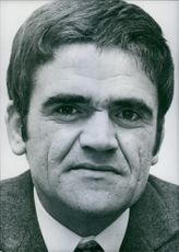 Portrait of french writer Georges Londeix, 1969.