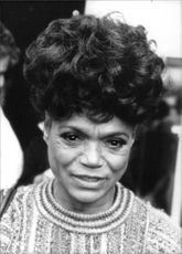 Portrait of Eartha Mae Kitt.