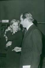 Albert II of Belgium and Queen Paola of Belgium in conversation.