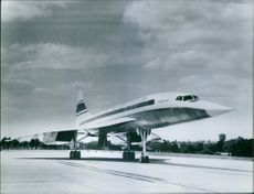 Scale model of a real Concorde.