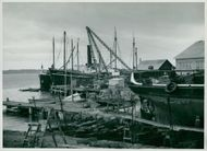 Öregrund summer 56: the yard which is now being rebuilt and expanded