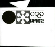 The logo of the Olympic Games in Sapporo in 1972.