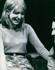 Jane Asher pictured laughing with the lady beside her.