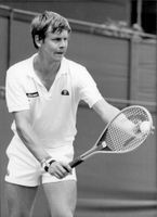 British tennis player Buster Mottram