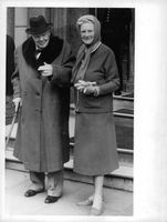 Winston Churchill with his wife.