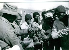 A photo of Black Drivers Face Lay-off - South African Scenes - 1929
