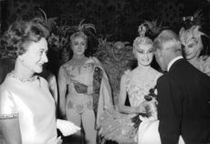 The Duke and Duchess of Windsor meeting and greeting the performers
