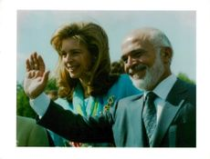 Hussein of Jordan with a woman.