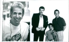 """Norman D. Golden II, Burt Reynolds, and Henry Winkler of the movie, """"Cop and a Half""""."""
