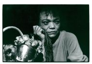 Eartha Kitt, portrait with roses