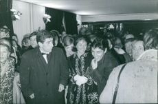 Sacha Distel coming to a event.