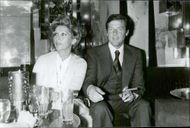 Roger Moore and his wife Luisa at Regine's