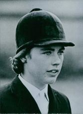 British show jumper, Ann Townsend, 1965.