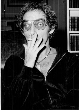 Portrait image of Marty Feldman taken during a visit to Germany.