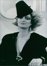 Princess Gloria of Thurn and Taxis photographed wearing a hat.