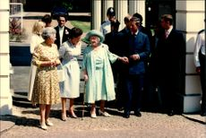 Queen Elizabeth II, Queen Elizabeth and Prince Charles in connection with the celebration of Queen's 95th birthday.