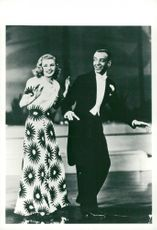 "Ginger Rogers and Fred Astaire in ""Am I allowed?"""