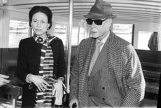 The Duke and Duchess of Windsor inside a boat