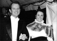 Margaret O'Brien and her husband Roy Thorsen at a Hollywood function, 1981.