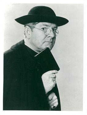 "Kenneth More in the TV series ""Father Brown"""