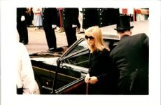 PC Phillip Walters Girlfriend arriving at his funeral.