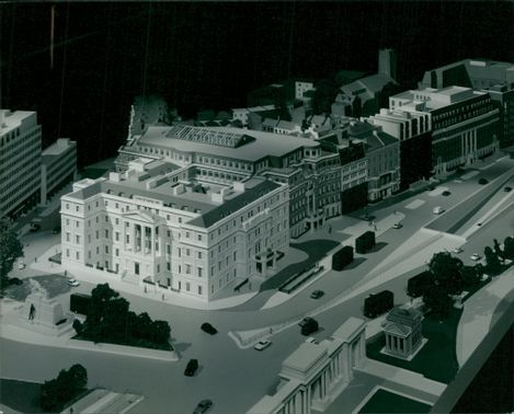 Model of the hotel which forms part of the St George's hospital.