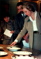"Princess Christina at the inauguration of the exhibition ""Environment and form in the future"""