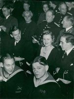 """Vaxholm Coastal Artillery with General Major Åström among the spectators at the set of """"Preparedness"""" at Dramaten"""