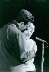 Georges Ulmer photographed with Laura Ulmer.