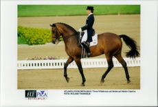Tinne Vilhelmsson and her Caprice during the dressage moment.