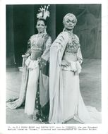 "Eartha Kitt with Melba Moore in ""Timbuktu"", Broadway musical"