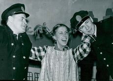 Pippi Longstocking at the Apollonium Theater. Hasse Wallbom, Irene Norelius and Tomas Bolme