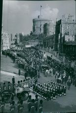 The funeral of King George VI.