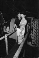 Yul Brynner with a woman.