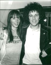 Leo Sayer Singer-songwriter with his wife janice.