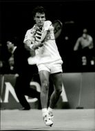 Mats Wilander won his first tennis match in Globen