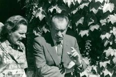Richard Nixon visits the Château de Malleret in Medoc, Bordeaux, France. In the picture, Nixon appears around the vineyards.